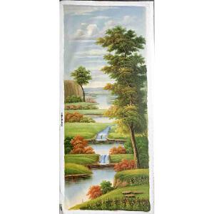 风景油画作品  70X180-040