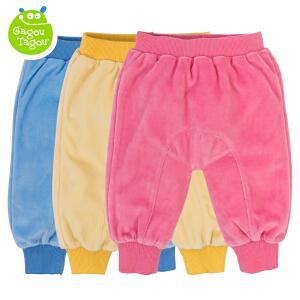 【加拿大童装】Gagou Tagou婴幼儿男女宝宝秋冬天鹅绒双层长裤GT1502K4002