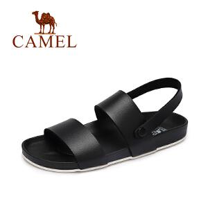 Camel/骆驼女鞋夏季新款 休闲百搭低跟罗马凉鞋 平底凉鞋