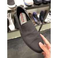 Prada 灰色拼布松紧口男士一脚蹬休闲鞋 折上折43码