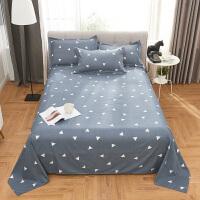 床单单件条纹格子学生单人床1.2米多规格双人1.8米床上用品 仅床单 225*250cm(用于1.8-2米的床)