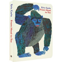 From Head to Toe 艾瑞卡尔爷爷纸板书 从头到脚英文原版绘本 Eric Carle吴敏兰推荐书单 儿童英语