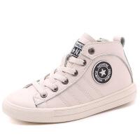儿童运动鞋春秋新款男女童韩版高帮百搭小白鞋中大童休闲板鞋