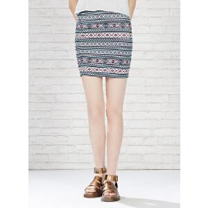 【2件2.5折到手价:4.75】美特斯邦威夏装女装染整包臀裙半裙258113庥