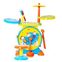 宝丽/Baoli 儿童架子鼓玩具1-3-6岁敲打乐器宝宝益智爵士鼓初学者