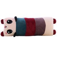 维莱 趴趴熊猫长抱枕 舒适柔软 情侣枕头大抱枕毛绒玩具 桃心可爱 枣红色脚 单人 75*25厘米