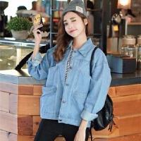 牛仔外套女春季潮2019韩版宽松薄款夹克衫秋装短款百搭bf上衣 浅蓝色