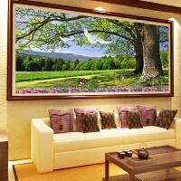 客厅大幅砖石画发财树风景画十字绣钻石画满钻长青树手工画点钻画