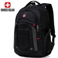 瑞士军刀SWISSGEAR双肩背包 防水面料时尚休闲双肩笔记本电脑包15.6英寸 男女商务双肩背包