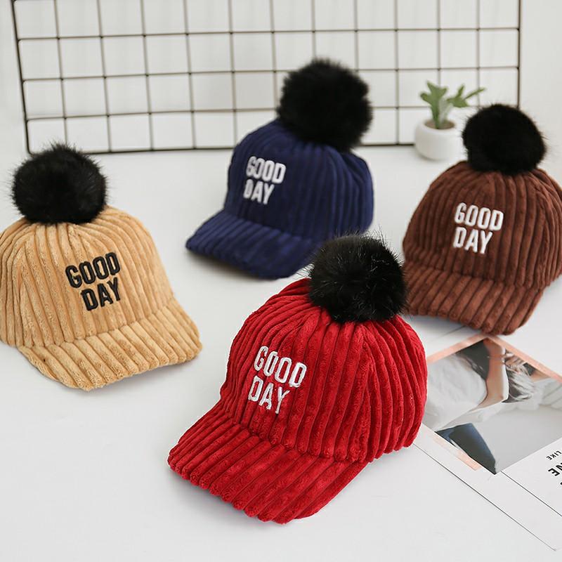 儿童帽子秋冬棒球帽女童鸭舌帽男宝宝帽子