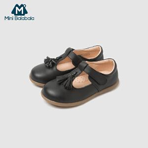 【每满199减100】迷你巴拉巴拉女童皮鞋公主鞋秋新款时尚软底儿童女单鞋演出鞋