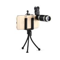 送三脚架手机夹所有手机通用手机望远镜超广角手持单筒望远镜8倍手机镜头可连接手机拍照长焦镜头