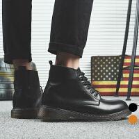 承发 男士复古时尚靴子男马丁皮靴 12613