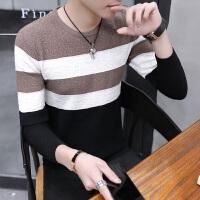 毛衣男秋冬季长袖上衣服男士打底针织衫韩版潮流个性线衣男装潮牌