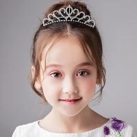 儿童王冠发饰女童头饰女孩公主皇冠大皇冠发箍新娘头箍钻饰
