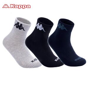 Kappa/卡帕(3双)男袜子棉质吸汗棉袜篮球足球运动袜子组合装KP8W15