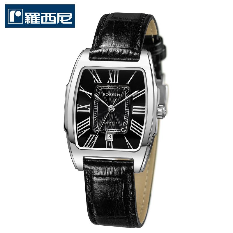 罗西尼(ROSSINI)手表 典美复古系列雅黑时尚皮带情侣手表【11.11提前购】满300减100,满500减150,满1000减200