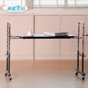 双人电脑桌护理桌无缝床边台式电脑桌笔记本电脑桌可伸缩调节