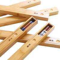 便携竹筷盒 筷子木盒 旅行筷盒 木制礼盒 学生成人筷子盒子