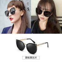 墨镜女潮 圆形方脸眼镜时尚偏光个性眼睛女士太阳镜