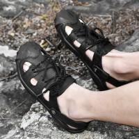 野图拖鞋男包头真皮凉拖鞋沙滩鞋登山户外休闲鞋一鞋两穿