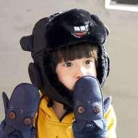 儿童秋冬帽子男童冬季女童保暖帽子小孩冬天宝宝保暖帽雷锋帽护耳