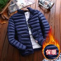 千帅 棉衣男冬季韩版修身外套学生bf短款纯色棉服简约保暖女棉服潮外套M188