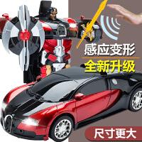 大黄蜂变形机器人变形玩具金刚超大无线遥控汽车充电3-4-6岁男孩
