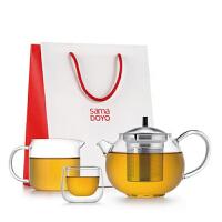 尚明新品功夫茶壶套装耐热玻璃茶壶过滤 加厚玻璃功夫茶具泡茶壶 T109