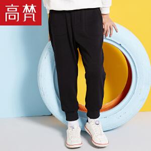【1件3折到手价:79元】高梵2018新款儿童休闲裤 加绒保暖运动男童罗纹裤脚学生长裤
