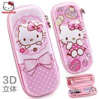 HelloKitty儿童笔袋小学生凯蒂猫女孩文具盒KT猫硬壳文具袋