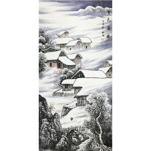 周裕国《雪花飞舞》著名画家
