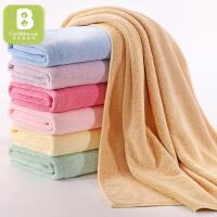 【两件包邮】卡伴婴儿浴巾洗澡巾新生儿宝宝盖毯超柔吸水儿童毛巾被子 100*120cm