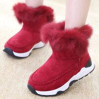 儿童雪地靴女童靴子秋冬季宝宝中大童保暖棉鞋小女孩短靴加绒童鞋