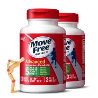 【绿瓶】美国直邮 Schiff旭福 Move Free维骨力氨糖氨基葡萄糖MSM 绿瓶120粒*2瓶 海外购
