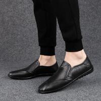 豆豆鞋新款男鞋真皮皮鞋休闲鞋低帮驾车鞋懒人鞋软底新品