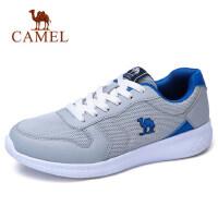 camel 骆驼 骆驼织物系带男鞋 男士运动鞋轻便透气减震跑步鞋