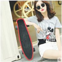 加宽加大耐用铝合金滑板车便携运动器男女生滑板小鱼板成人大鱼板四轮滑板车