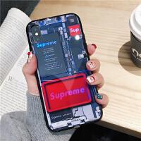 新款苹果x手机壳iPhone XS Max智能发光8plus来电闪7P玻璃潮牌6s个性超薄软壳xr全 7/8(4.7寸)