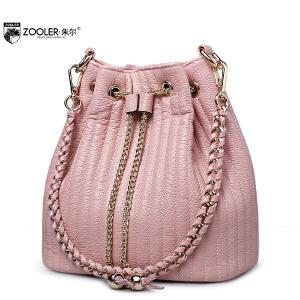 朱尔女包水桶包女真皮新款欧美多功能单肩斜挎个性女士包包