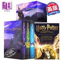 哈利波特英文原版 英文版Harry Potter 哈利波特全套1-7 盒�b J.K. Rowlingj JK�_琳 �M口