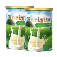 Karivita 卡瑞特兹 新西兰进口脱脂奶粉 高钙青少年学生成人奶粉 450克*2罐