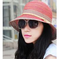 新品波西米亚女士遮阳帽草帽 防晒凉帽防紫外线沙滩帽户外女帽