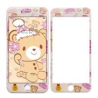 法芘兔 iphone6钢化玻璃膜 苹果6钢化膜彩膜6s全屏卡通贴膜