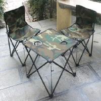 户外桌椅三件套可折叠 野营烧烤自驾游沙滩桌椅套装