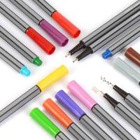 24色彩色针管笔中性笔0.4mm草图笔漫画手绘勾线笔纤维笔