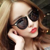 太阳镜女墨镜偏光镜明星款潮圆脸蛤蟆镜复古太阳眼镜