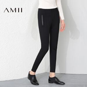 AMII冬新时尚修身拉链亲子装九分休闲裤女21684434