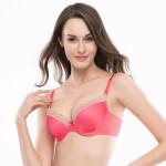 安莉芳集团E-BRA美背简约聚拢上托女士光面文胸罩内衣KB0159