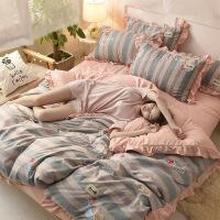 【人气】放心购 公主四件套全棉纯棉床单被套单双人1.8m床上用品全套